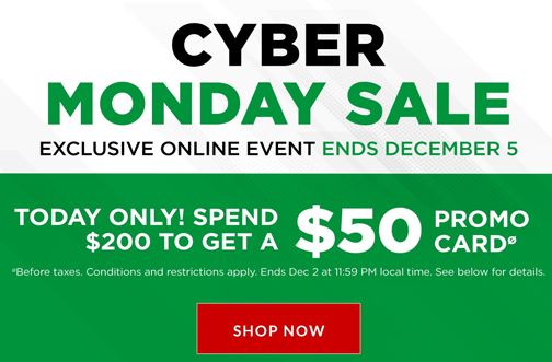 Canadian Tire Cyber Monday Deals From Savealoonie