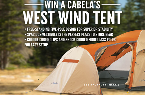 & Cabelau0027s West Wind Tent Giveaway u2014 Deals from SaveaLoonie!