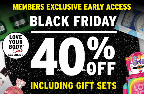 The Body Shop Early Black Friday Access Deals From