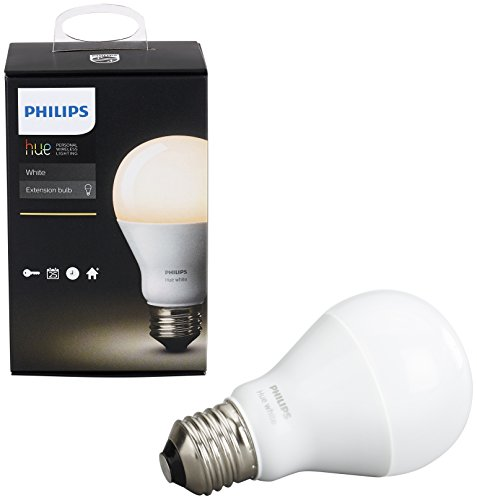 PHILIPS Hue White A19 Single Bulb patible with Amazon