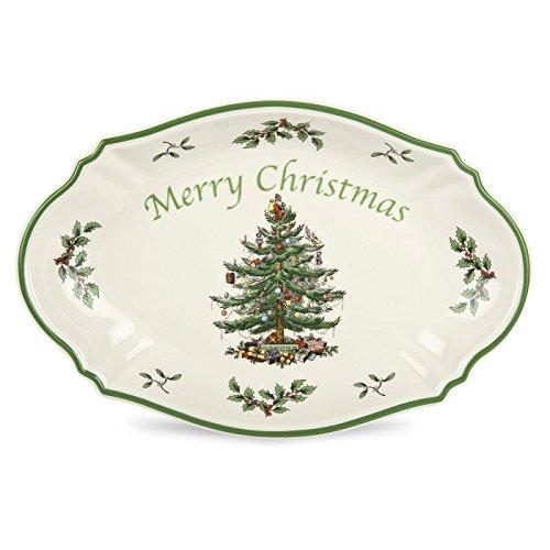 Spode Christmas Tree History: Spode Christmas Tree Merry Christmas Tree Tray