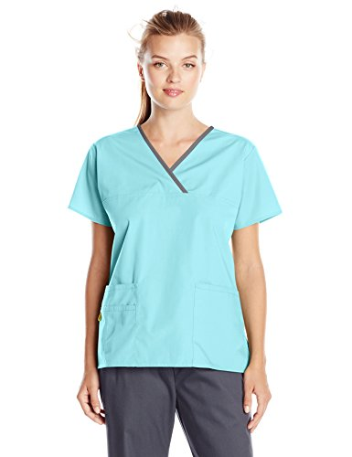 f3fbb5bd9f2 WonderWink Women's Scrubs Charlie 5 Pocket Y-Neck Wrap Top — Deals ...