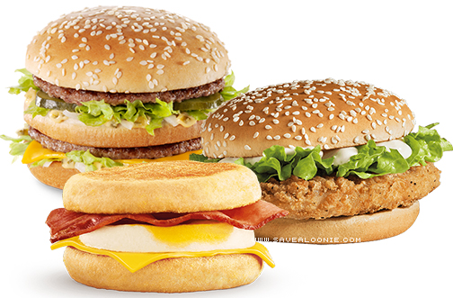 my mcd s big mac mcchicken or mcmuffin offer deals from savealoonie