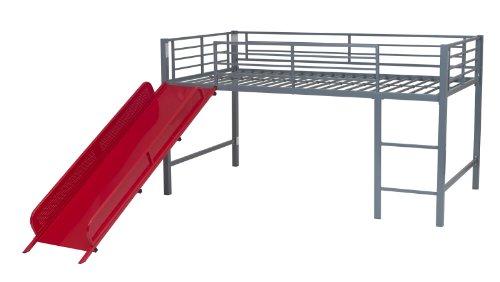 Dhp Junior Fantasy Loft Bed Silver With Red Slide Deals