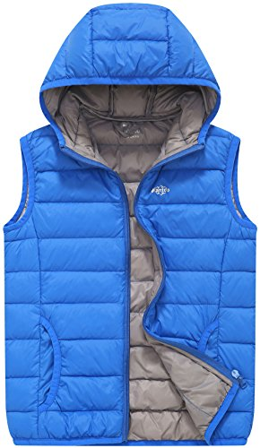 Wantdo Boy S Packable Hooded Puffer Down Vests Sleeveless