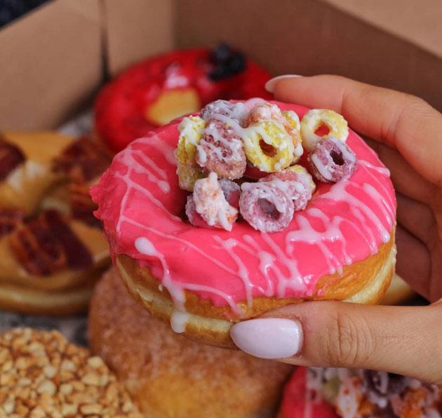 Tim Hortons Froot Loop Dream Donut
