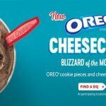 dairy queen oreo cheesecake blizzard