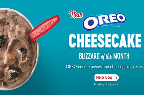 dairy queen oreo cheesecake blizzard