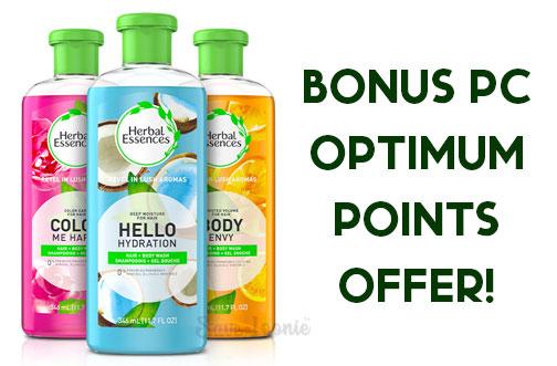 herbal essences pc optimum points