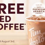 tim hortons free iced coffee