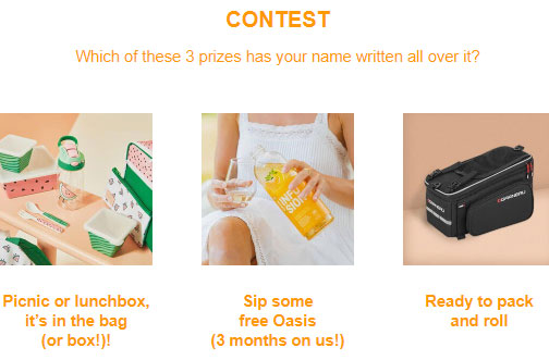 oasis contest
