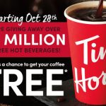 tim hortons free coffee giveaway
