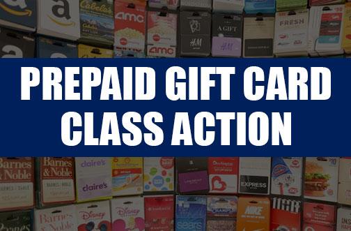 prepaid card class action