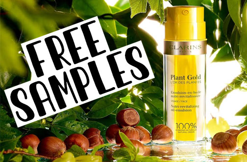 clarins plant gold sample