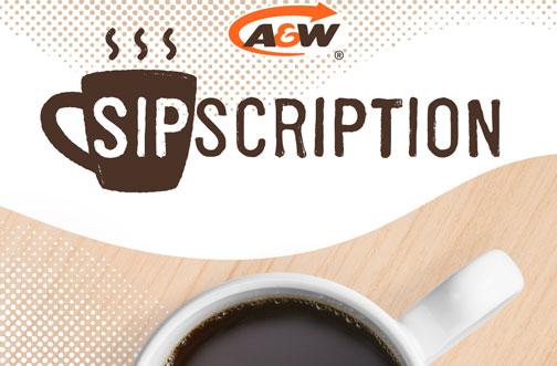 free a&w coffee sipscription