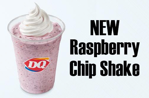 DQ Raspberry Chip Shake
