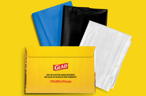 free glad clean-up kit