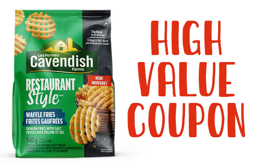 cavendish farms waffle fries coupon