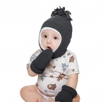 Toddler Fleece Lined Hat and Mittens Set (1-3T)