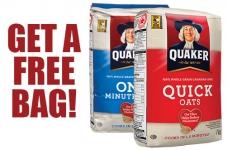 Get a FREE Bag of Quaker Oats