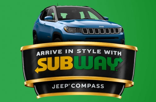 Subway Canada Contest | Win a 2021 Jeep Compass
