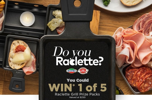 Mastro & San Daniele Contest | Win 1 of 5 Raclette Grill Prizes