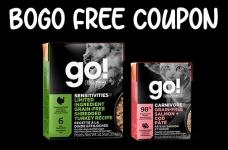 BOGO Free Petcurean GO! SOLUTIONS Tetra Pak Coupon