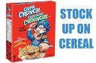 Quaker Cereals for $1.00
