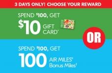 Sobeys $10 Gift Card or 100 Bonus Air Miles