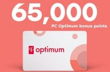 Get 65,000 Bonus PC Optimum Points