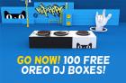 Reminder! 100 OREO DJ Boxes Today!