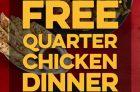 Get a Free Quarter Chicken Dinner at Swiss Chalet