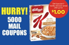 Get Special K Vanilla Almond Cereal For $1.00 Coupon