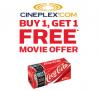 Cineplex & Coke BOGO Movie Offer