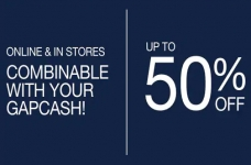 GAP Canada Sales & Deals   Up to 50% off Sitewide + Gap Cash + 20% off Coupon Code