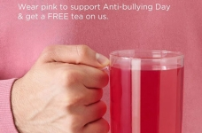 DAVIDsTEA Pink Shirt Day Free Tea