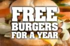 Harvey's Free Burgers For A Year Contest