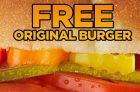 Get a Free Harvey's Original Burger with UberEats