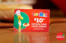 Toys R Us Savings Cards at East Side Mario's