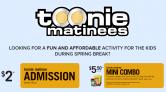 Cineplex Toonie Matinees