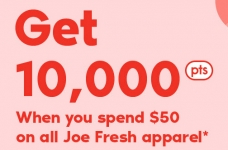 Joe Fresh – 10,000 PC Optimum Points Bonus Offer