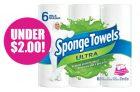 SpongeTowels Paper Towels for Under $2