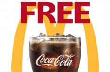Free Fountain Drink at McDonald's