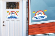 Free Friendship Rainbow Decal