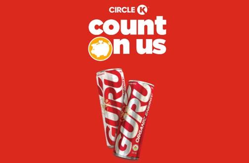 Circle K Free Stuff | Free GURU Energy Drink