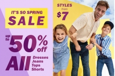 Up to 50% Off + 20% Off Coupon Code at Old Navy