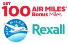 Rexall Air Miles Coupon   Get 100 Bonus Miles
