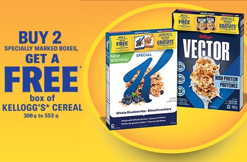 Kellogg's Promotions Canada | Free Cereal Offer + Cash for Groceries Promotion