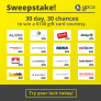 Yellow Pages 30 Days, 30 Chance to Win Contest