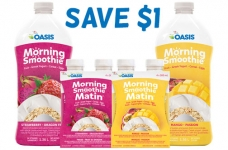 Oasis Coupon Canada | $1 Off Morning Smoothie
